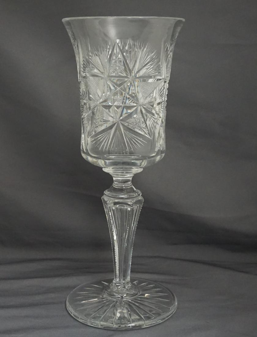 CUT GLASS VASE GOBLET
