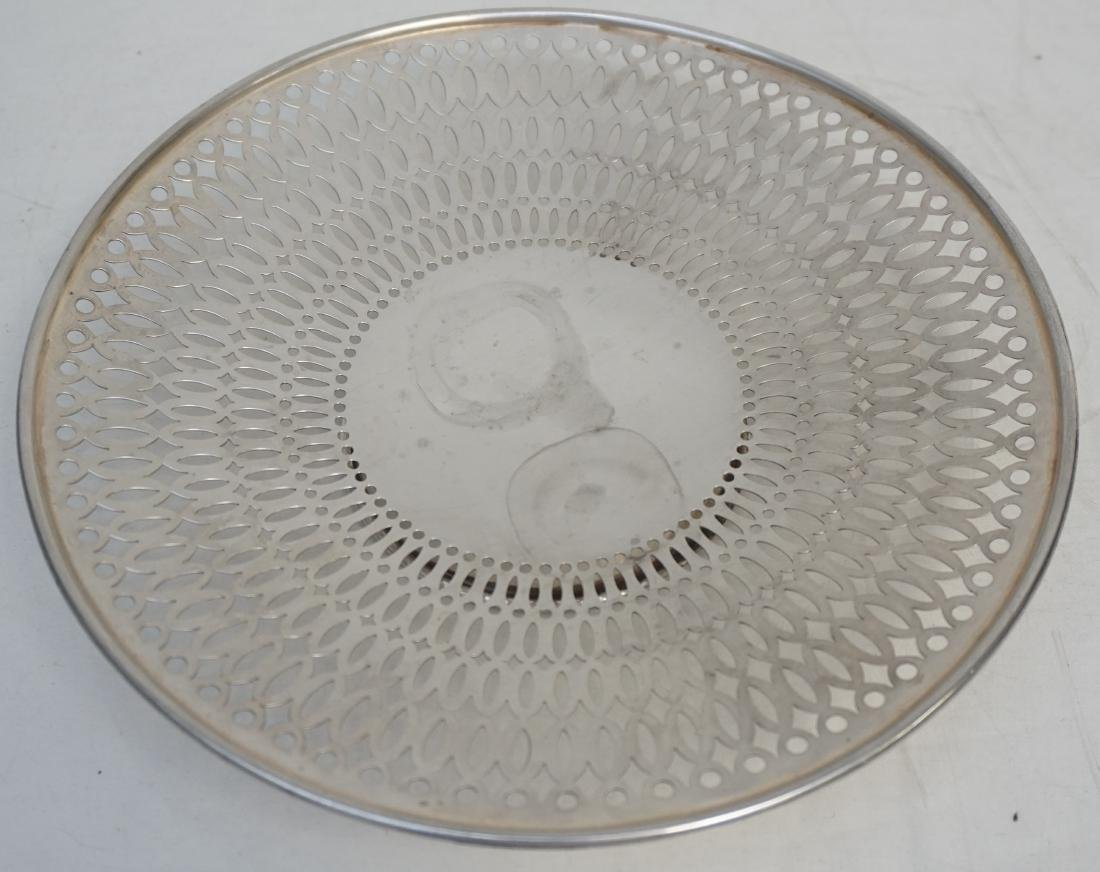 STERLING SILVER RETICULATED CAKE STAND