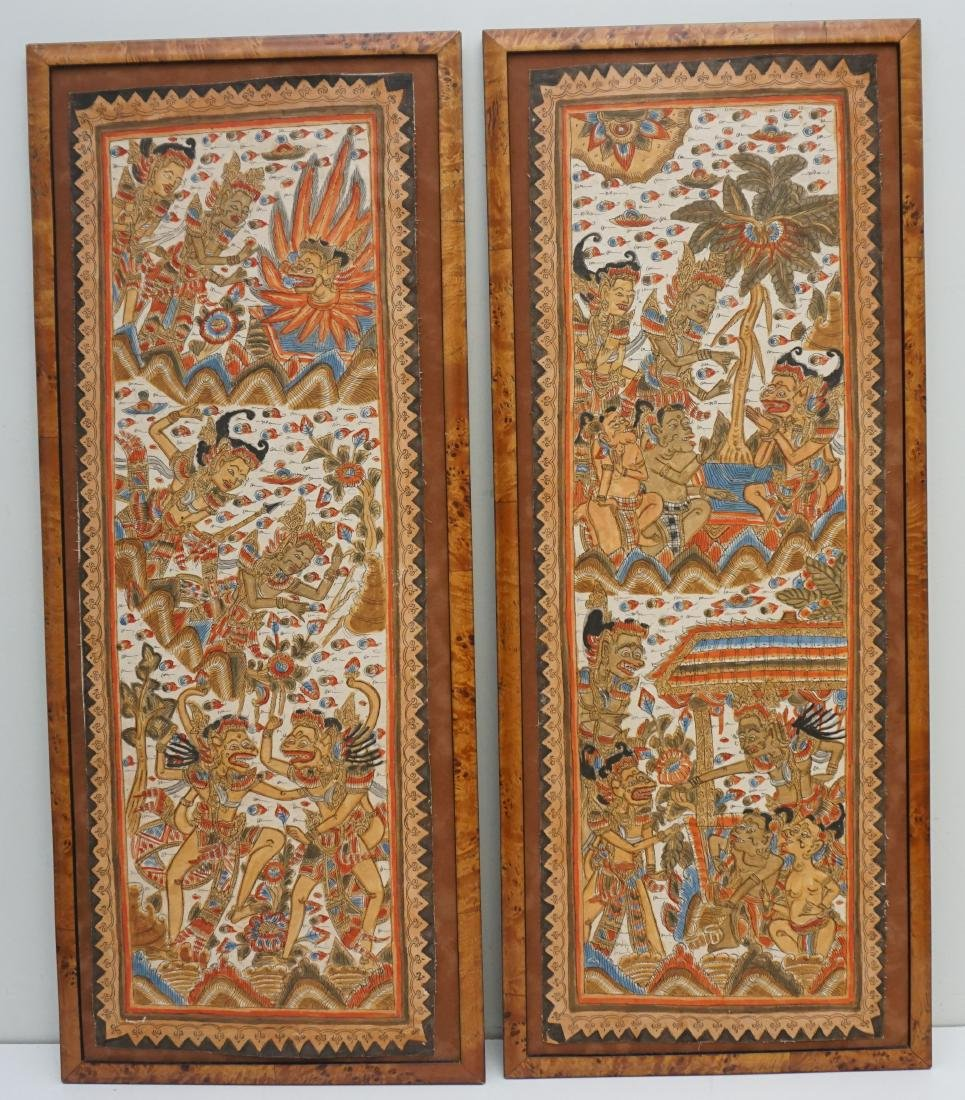 2PC BALINESE PAINTING ON FABRIC