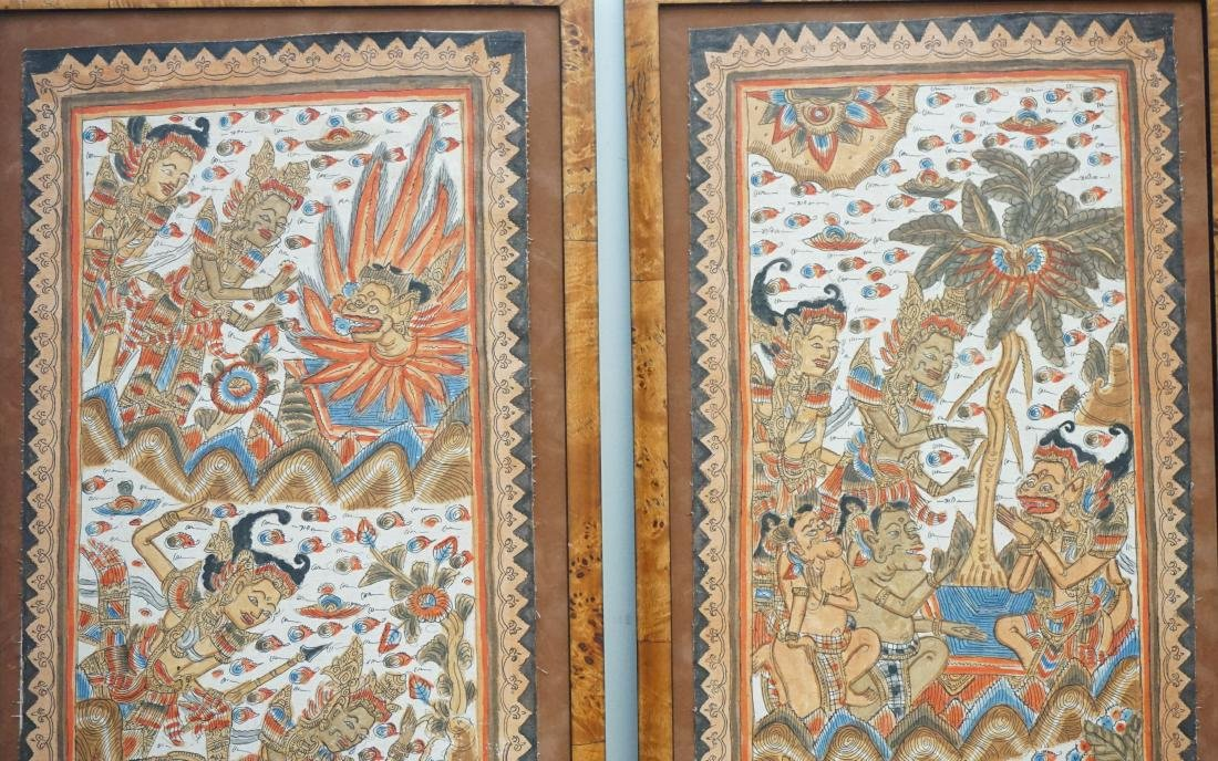 2PC BALINESE PAINTING ON FABRIC - 2
