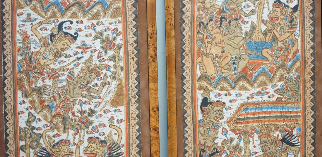 2PC BALINESE PAINTING ON FABRIC - 3