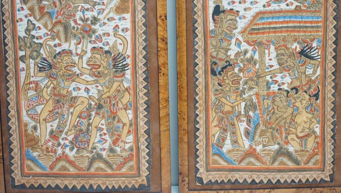 2PC BALINESE PAINTING ON FABRIC - 4