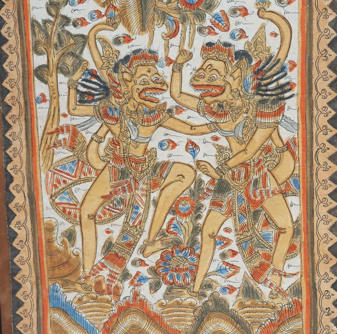 2PC BALINESE PAINTING ON FABRIC - 6