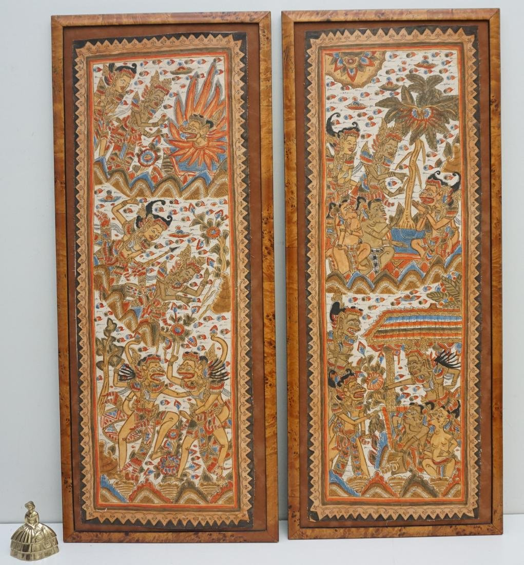 2PC BALINESE PAINTING ON FABRIC - 7