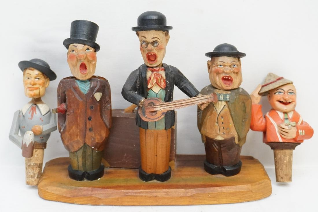 GERMAN CARVED ANRI BAR SINGERS + STOPPERS