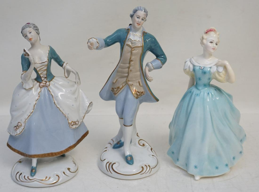 3 PC ROYAL DUX & ROYAL DOULTON FIGURINES