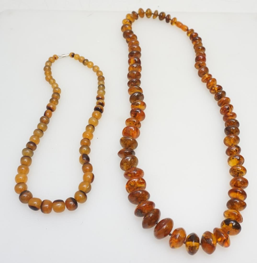 2 VINTAGE BALTIC AMBER NECKLACE +