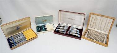 4 VINTAGE BOXED SETS CUTLERY