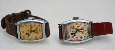 2 VINTAGE MICKEY MOUSE WATCHES
