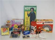 10 VTG TOYS 1960-70S IN BOXES