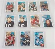 11 1970 XOGRAPH FOOTBALL CARDS