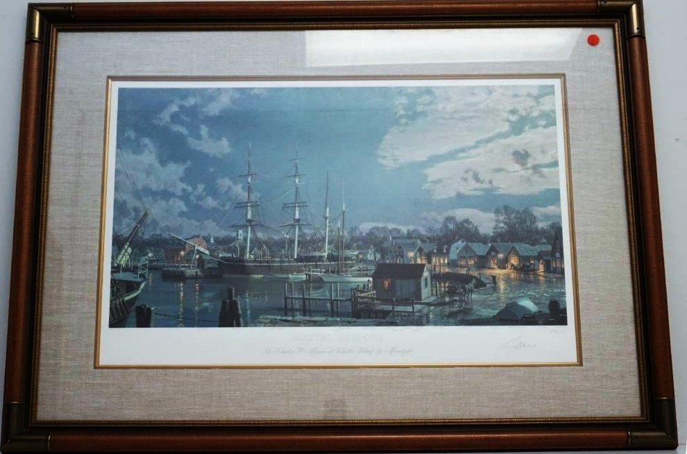 LARGE JOHN STOBART MYSTIC SEAPORT LITHO
