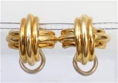 PAIR OF TIFFANY & CO 18KT X GOLD EARRINGS (8.20 GRAMS)