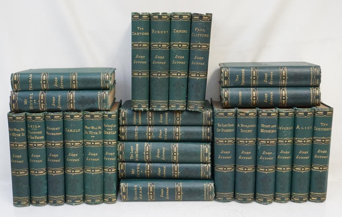 25 VOLUMES 19TH C LORD LYTTON