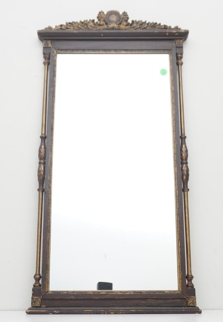ANTIQUE CARVED WOOD MIRROR