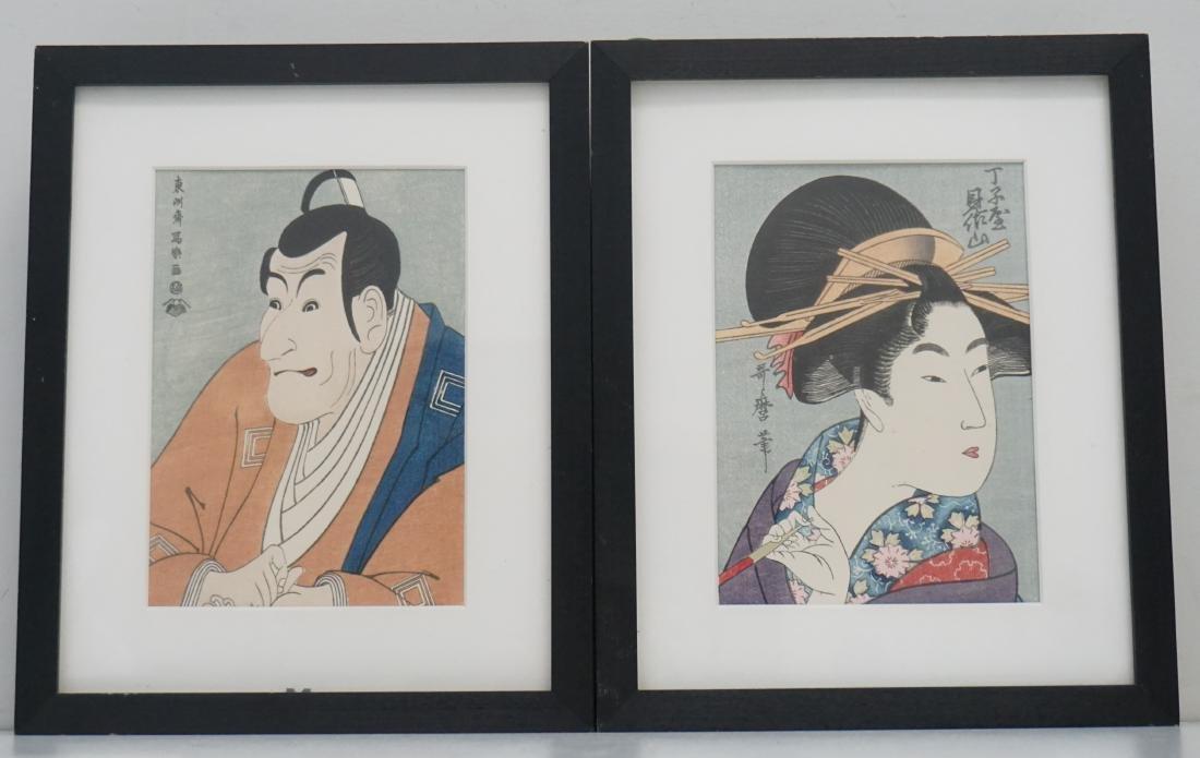 2 JAPANESE WOODBLOCKS