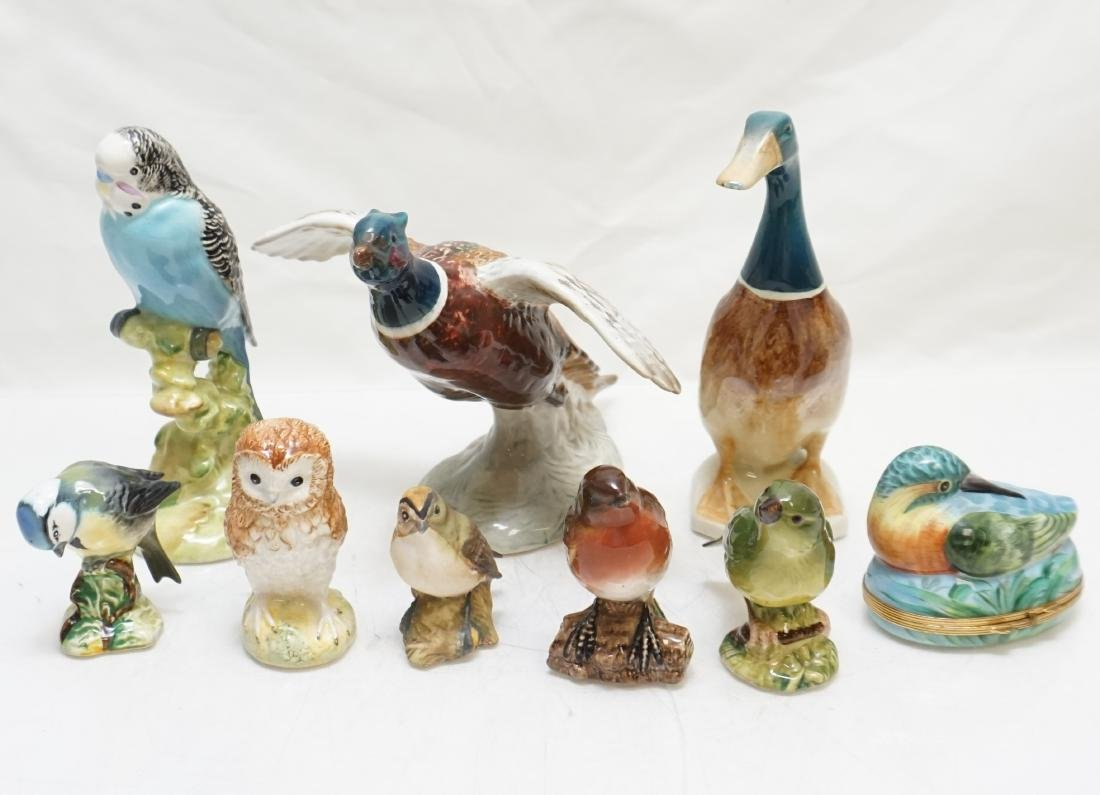9 BESWICK - LIMOGE BIRDS - BOX