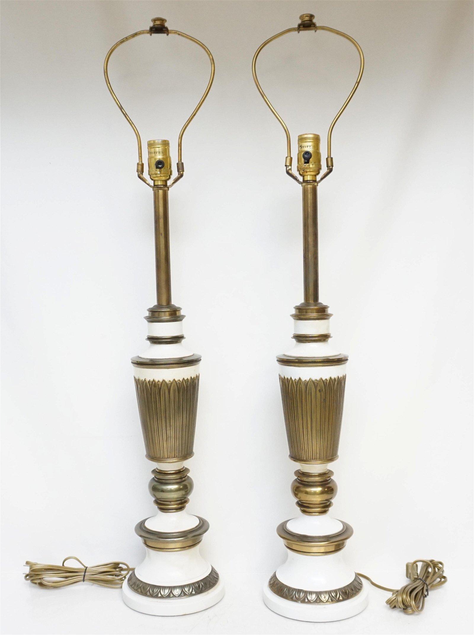 PAIR OF MID CENTURY STIFFEL LAMPS