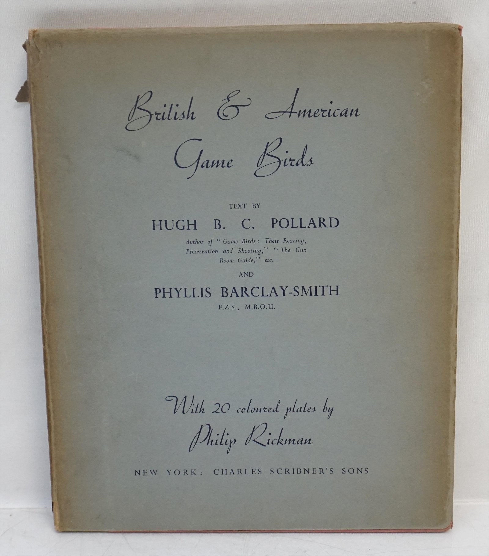 BRITISH & AMERICAN GAME BIRDS 1939