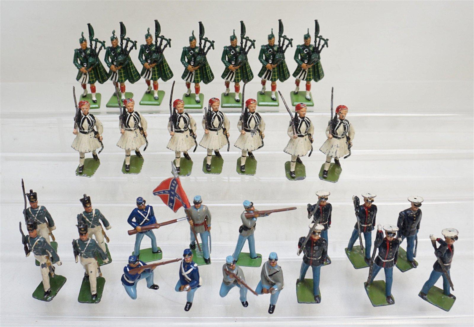 30 pc LEAD SOLDIERS CIVIL WAR - SCOTTISH +