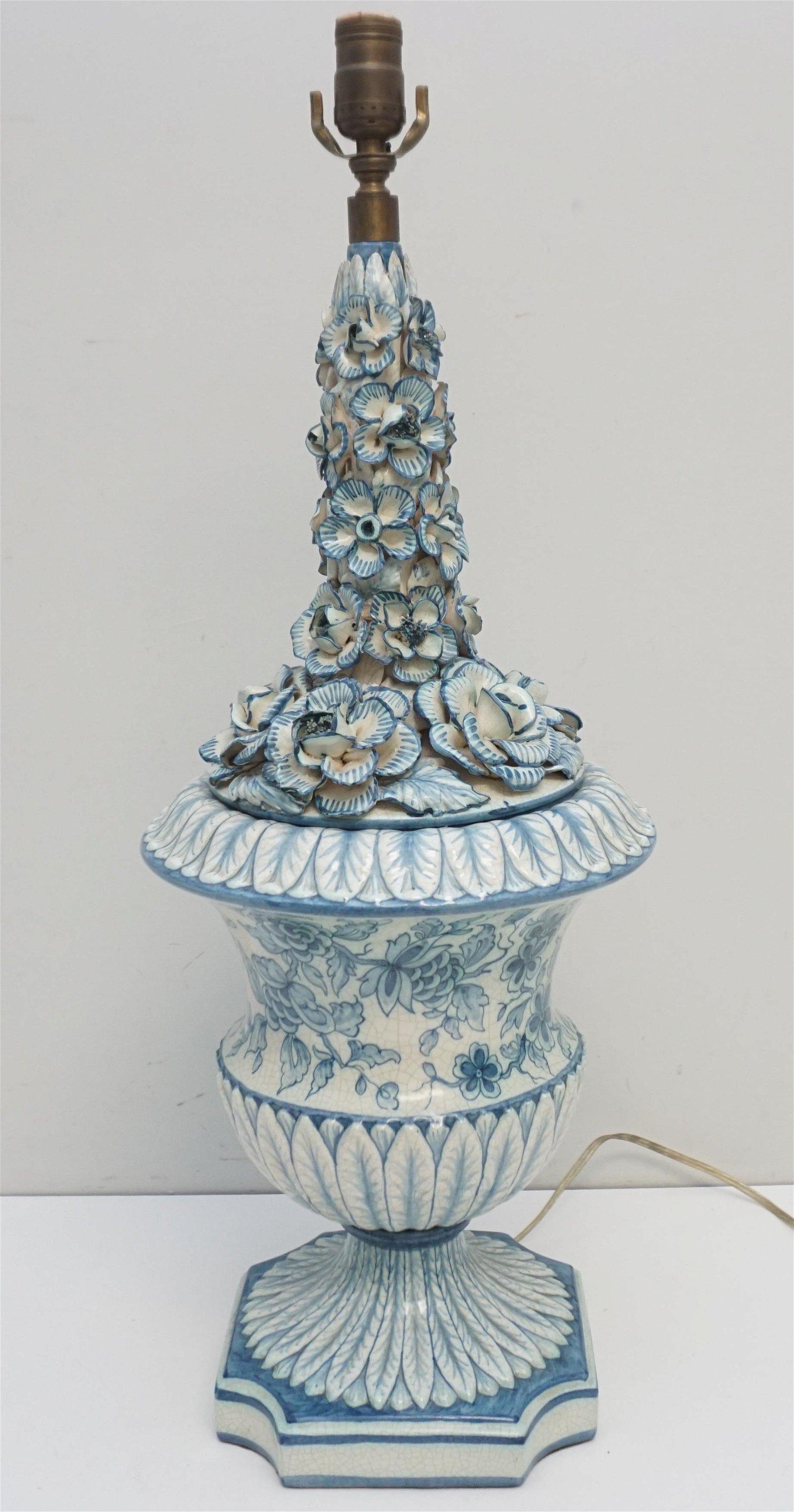 MANISES MID CENTURY SPANISH TABLE LAMP