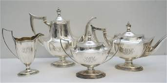 4 PC GORHAM STERLING PLYMOUTH COFFEE SERVICE