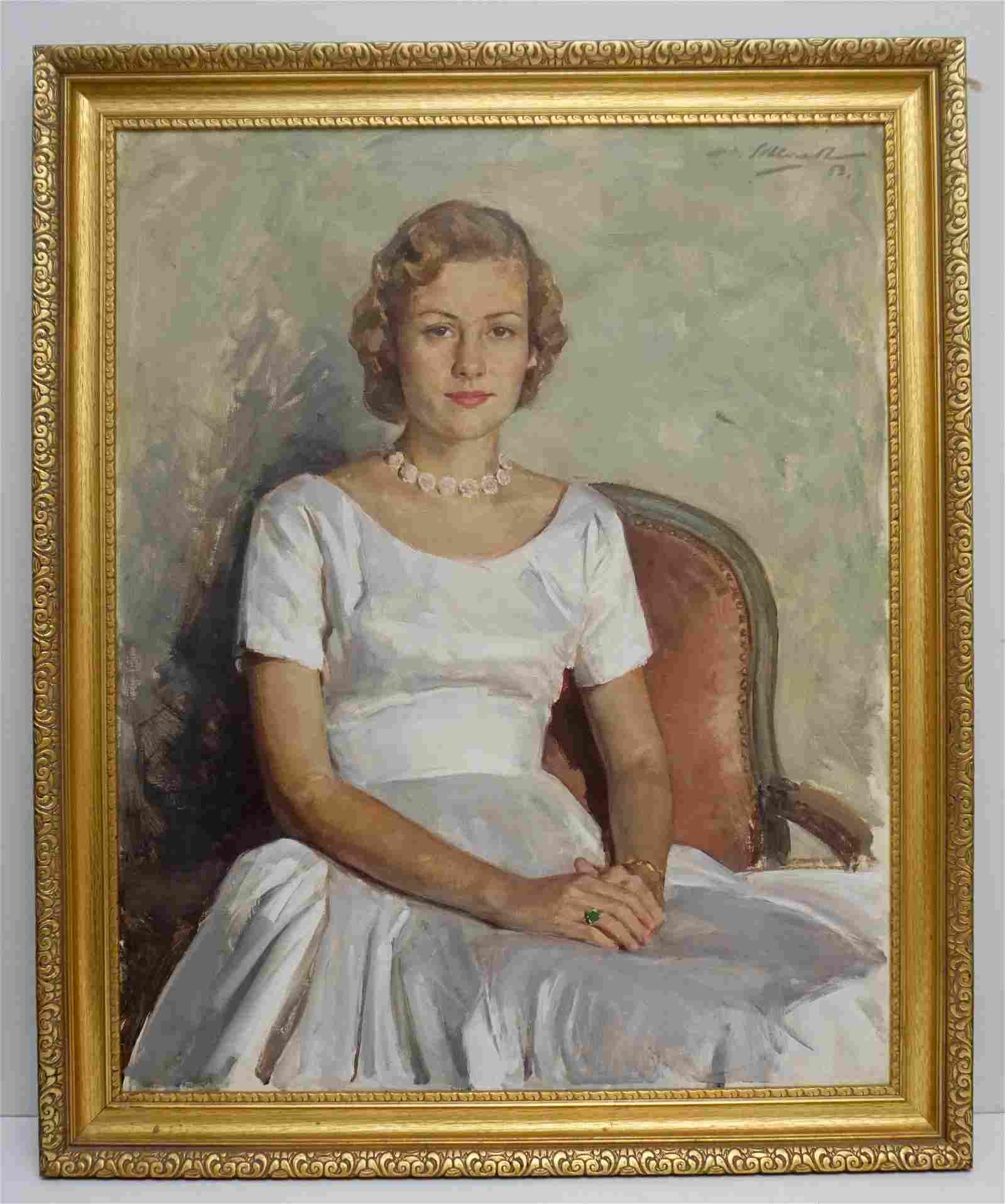 MID CENTURY 1953 WOMANS PORTRAIT