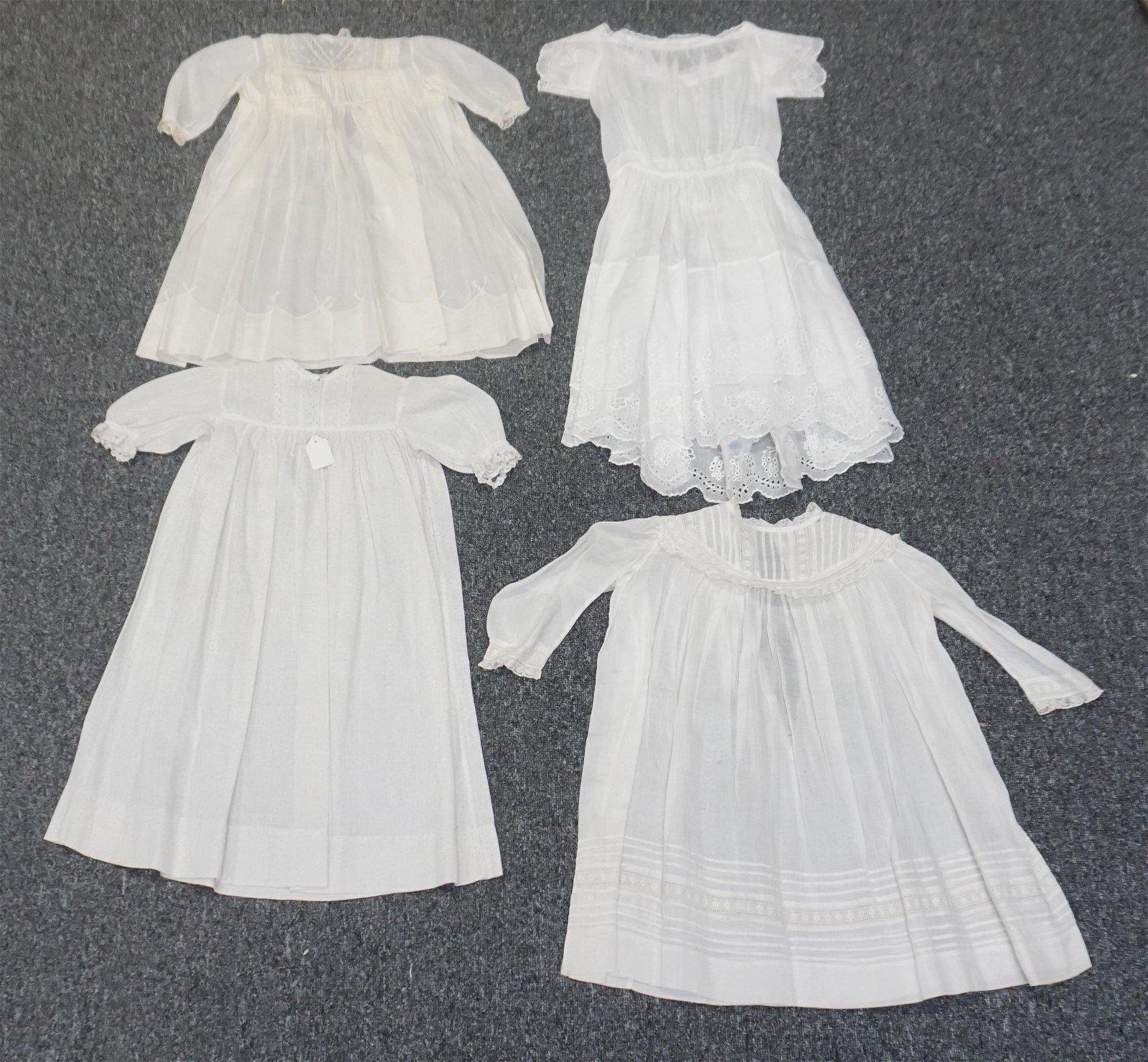 4 VICTORIAN GIRLS DRESSES +