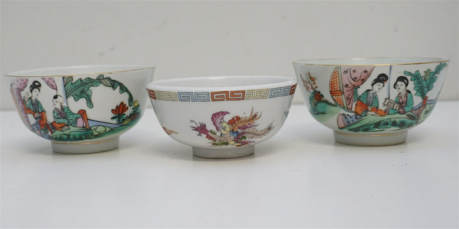 3 CHINESE PORCELAIN RICE BOWLS
