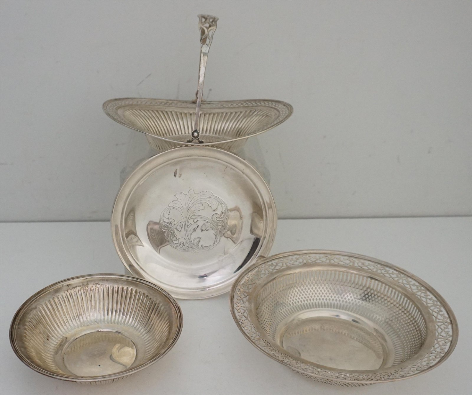 4 AMERICAN STERLING SILVER BOWLS