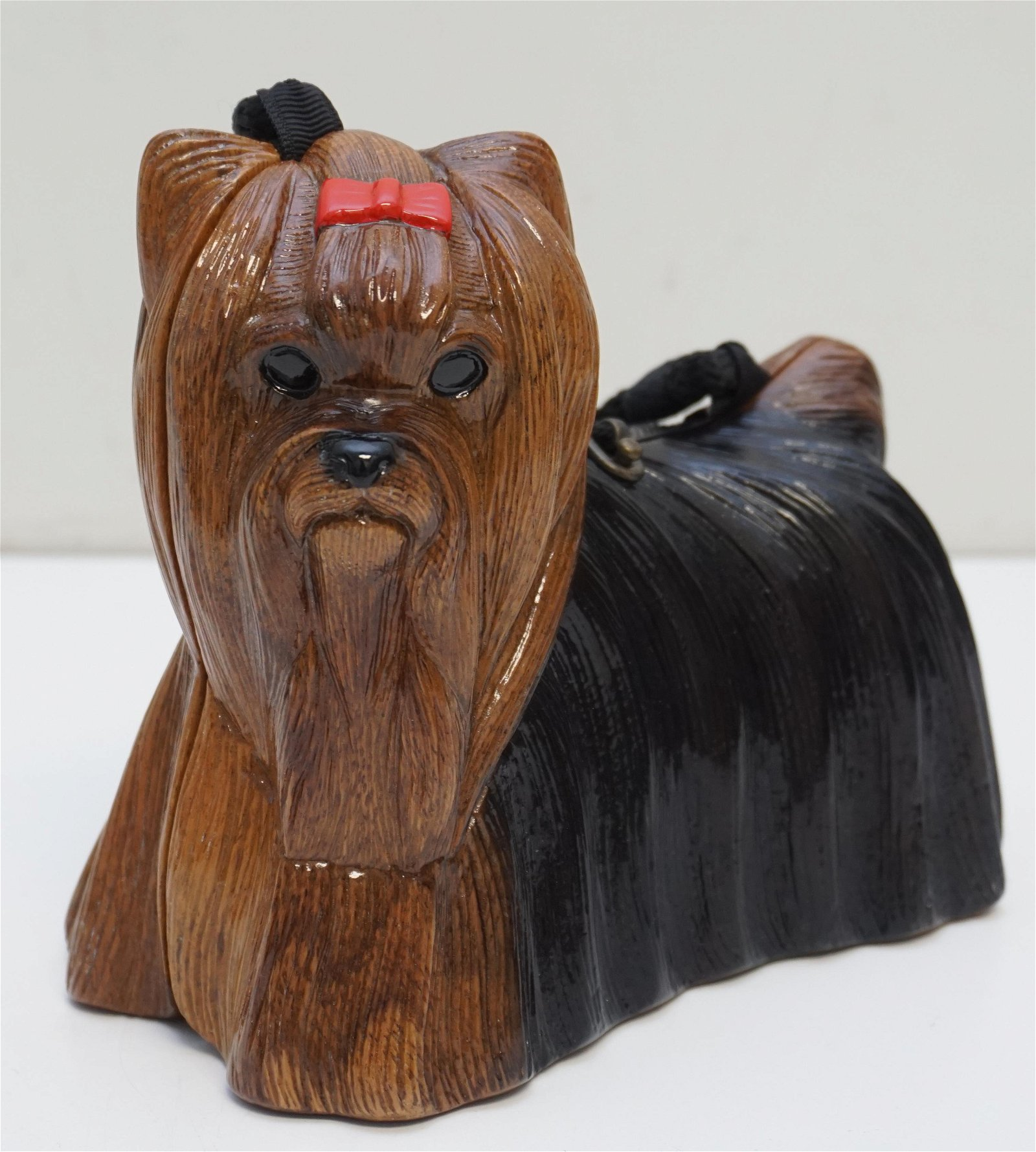 TIMMY WOODS HAND CARVED YORKSHIRE / YORKIE TERRIER BAG