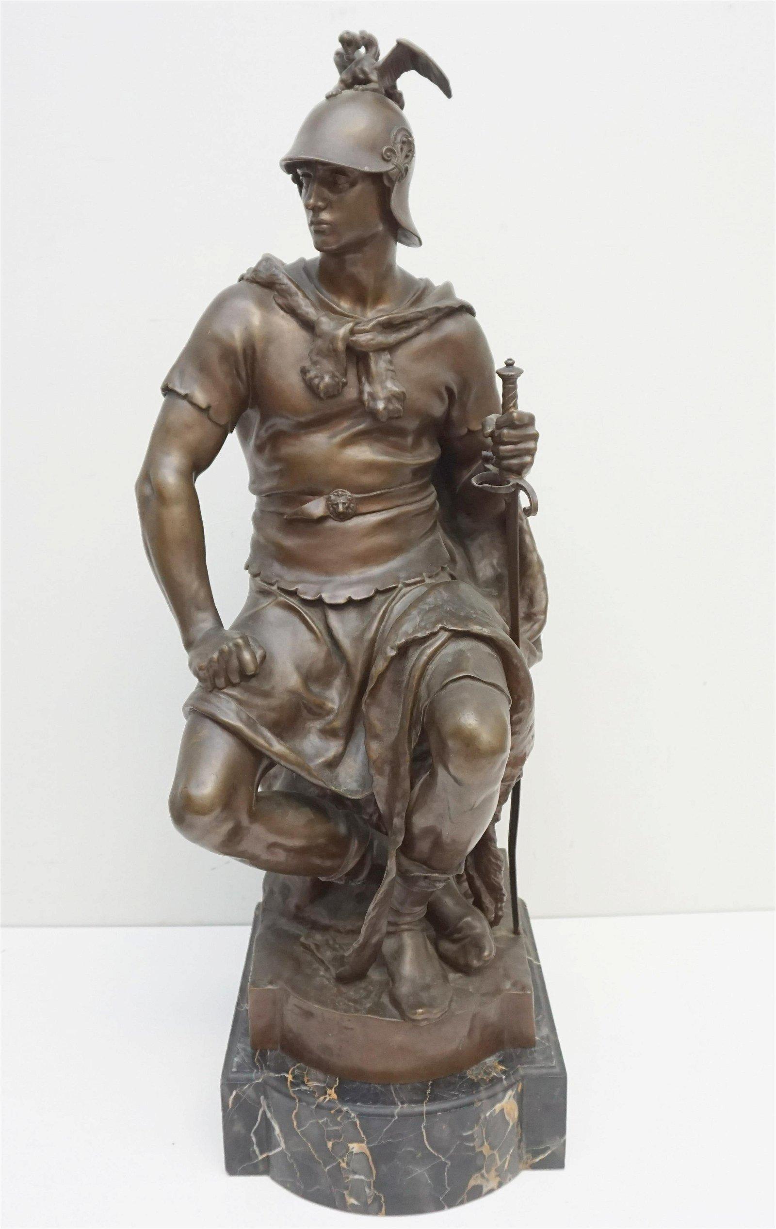 LARGE PAUL DUBOIS (1829-1905) BARBEDIENNE BRONZE