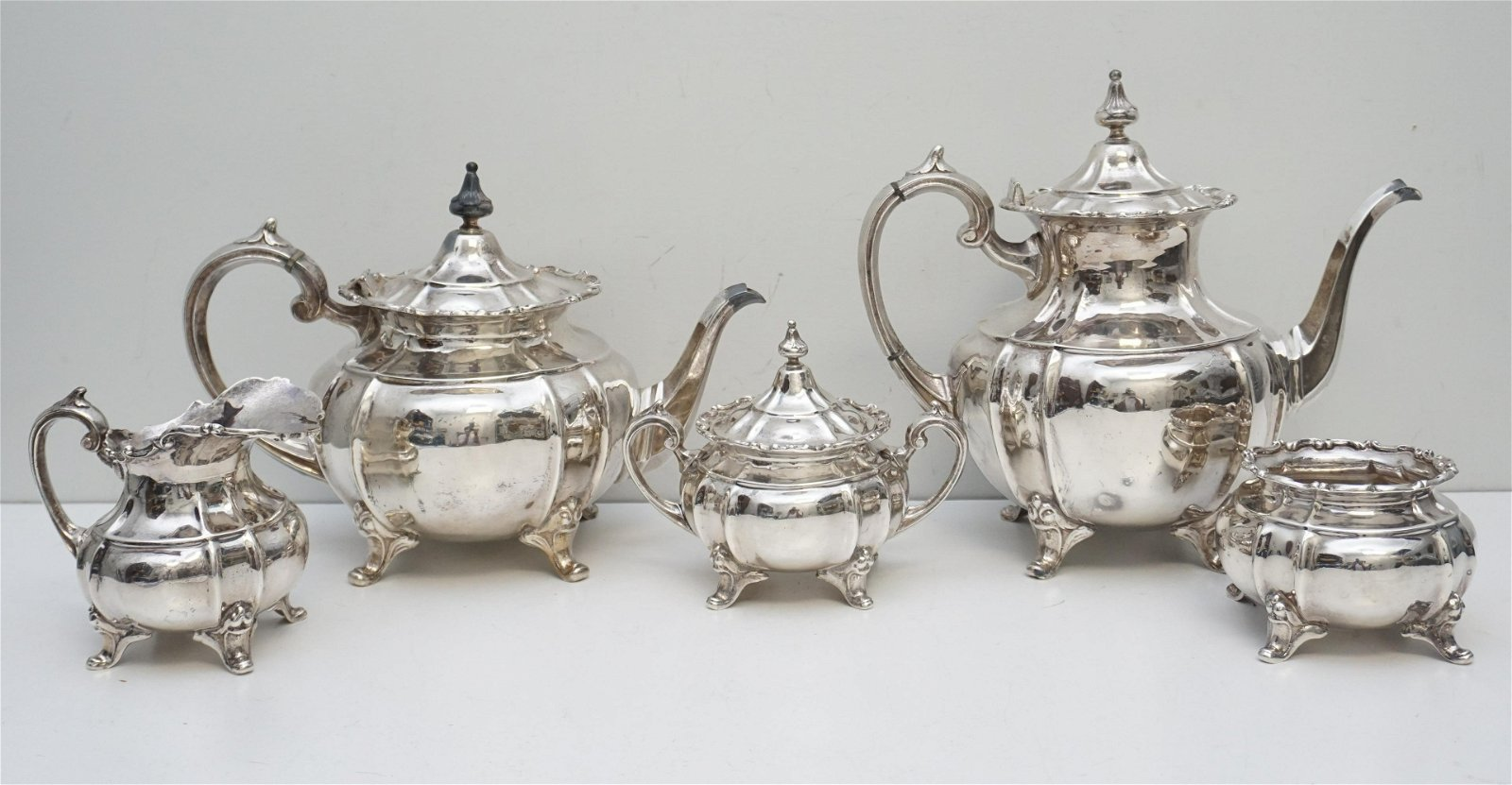 5 PC STERLING SILVER COFFEE / TEA SERVICE