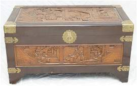 MID CENTURY CHINESE CARVED CHEST