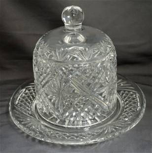 WATERFORD SOCIETY CRYSTAL COVERED DESSERT DOME