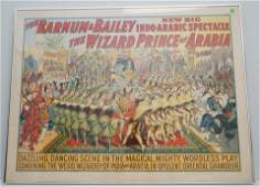 1914 ORIGINAL BARNUM & BAILEY THE WIZARD PRINCE OF