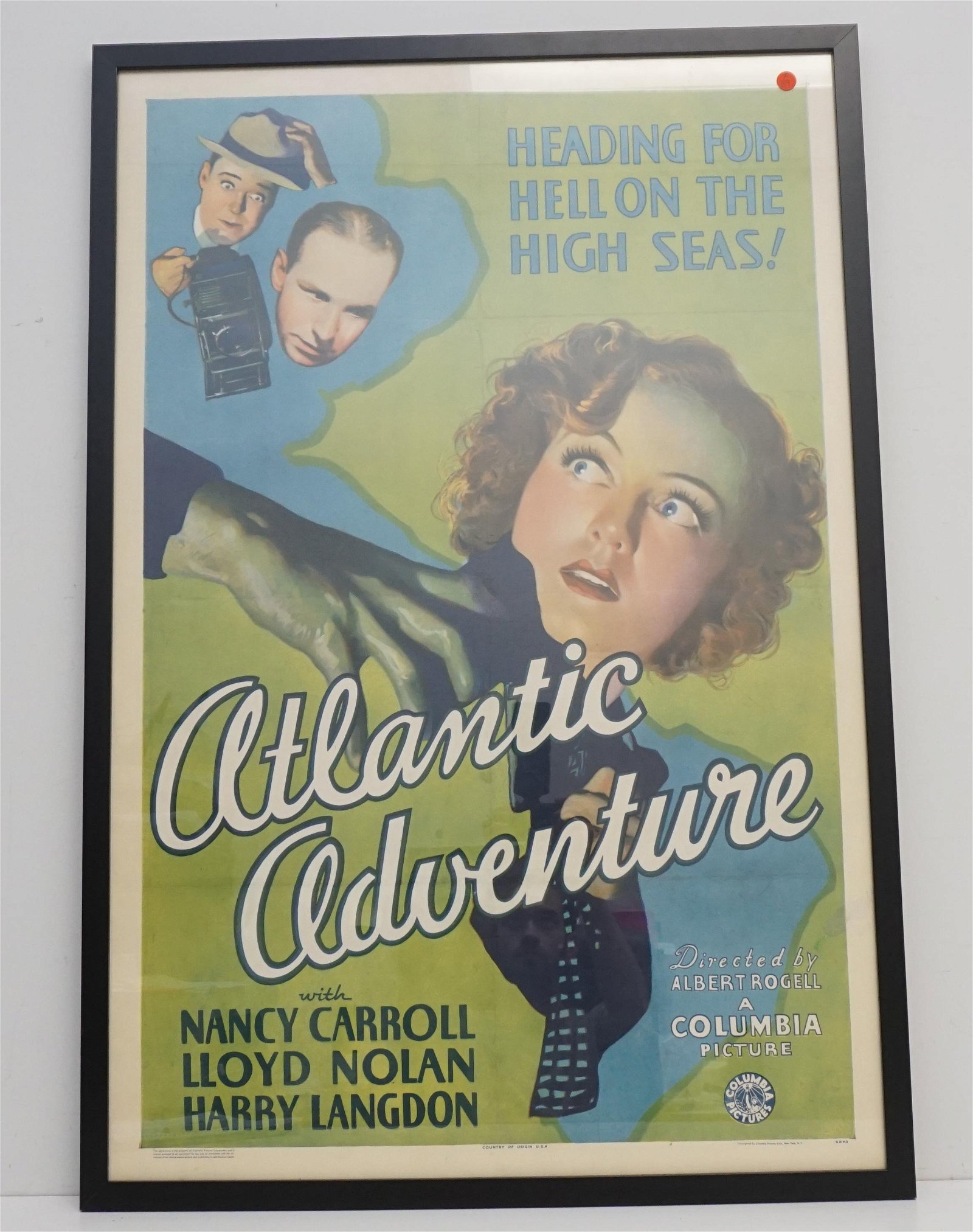 1935 ATLANTIC ADVENTURE MOVIE POSTER