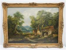 WILLIAM H. CROME OIL ON PANEL 1843