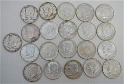 21 KENNEDY HALF DOLLARS