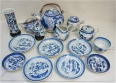 14 pc CHINESE EXPORT + BLUE CANTON