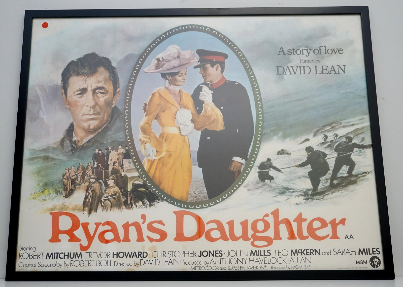 1970 RYAN'S DAUGHTER MOVIE POSTER