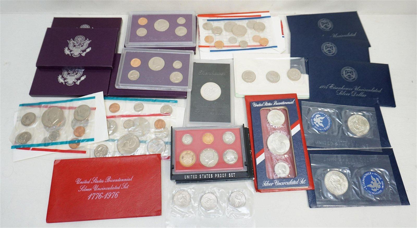 LARGE GROUP COINS - MINT SETS