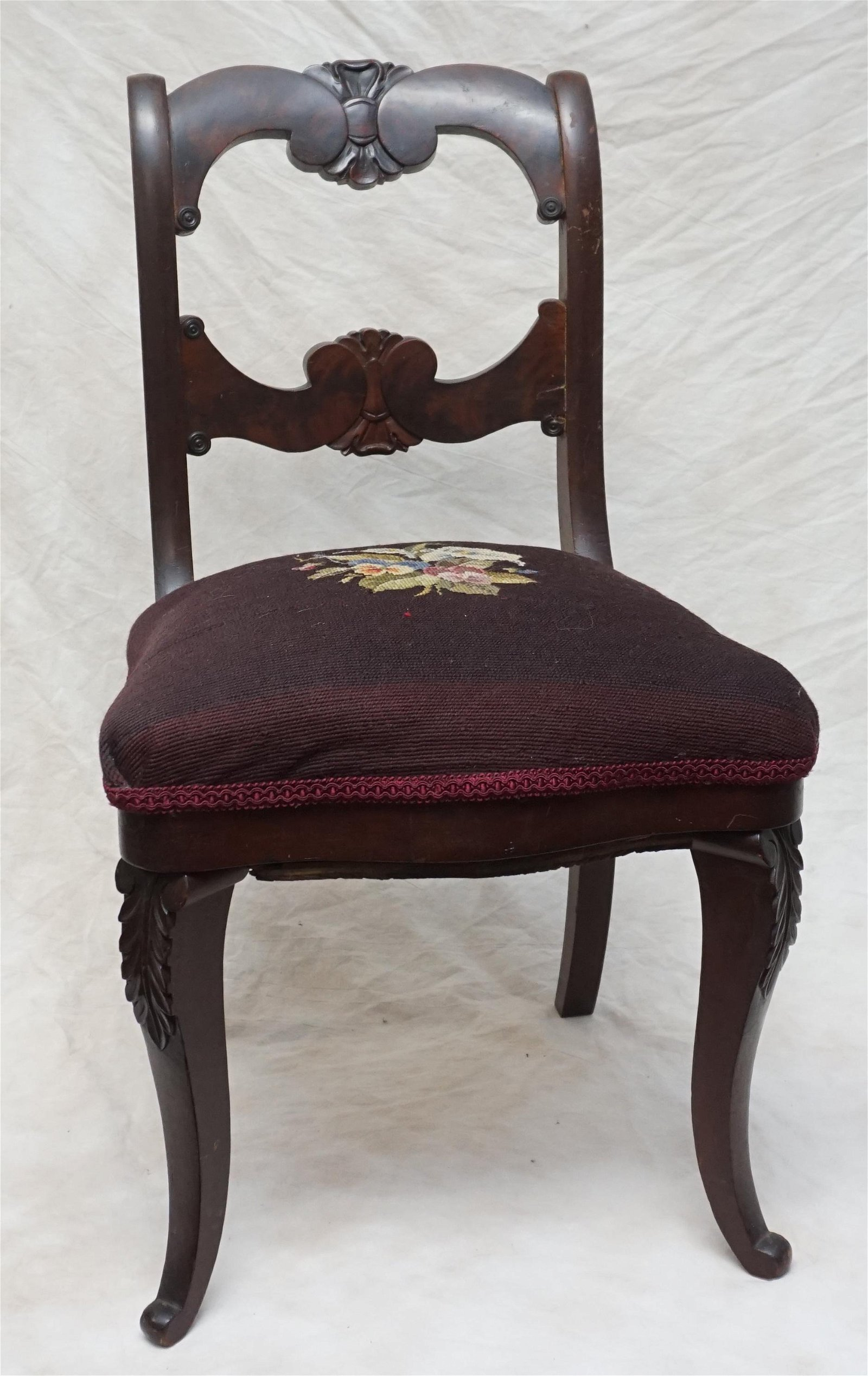 CARVED VICTORIAN SIDE CHAIR
