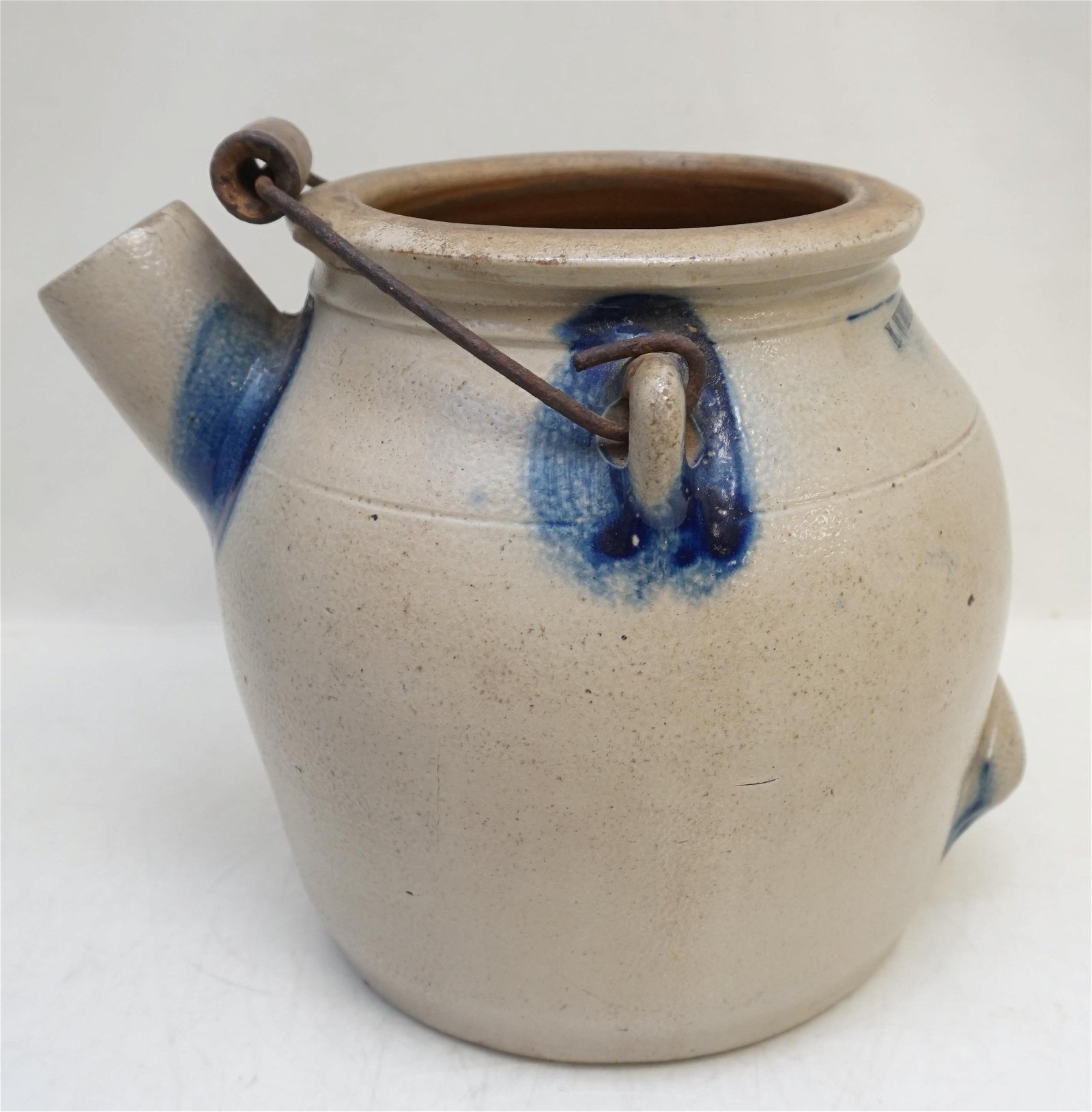 19th c N. WHITE BATTER PAIL / JUG