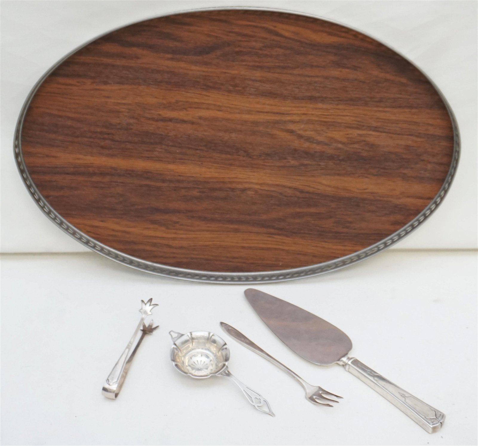 5 PC TRAY - STERLING - SILVERPLATE