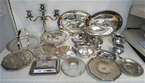 LARGE GROUP GOOD SILVER PLATE
