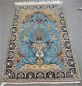 FINE SEMI ANTIQUE HAND KNOTTED MAHAL RUG