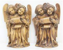 CARVED ITALIAN WOOD ANRI TYPE ANGELS