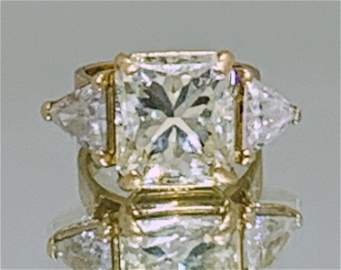 11.12CT RADIANT CUT DIAMOND RING