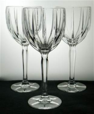 3 WATERFORD MARQUIS WATER GOBLETS